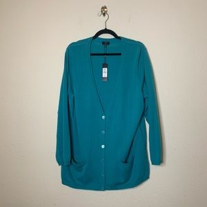 Talbots Button Down Cashmere Cardigan Sweater